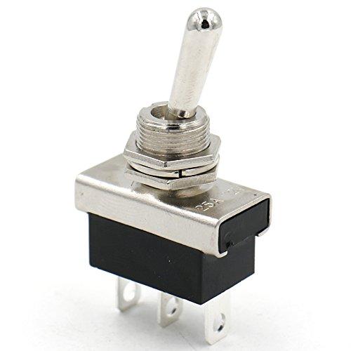 Interruptor de metal con Heschen basculador de 12V, 25A, ON/ON, 2posiciones, 3pines, para la luz del cuadro de instrumentos del coche