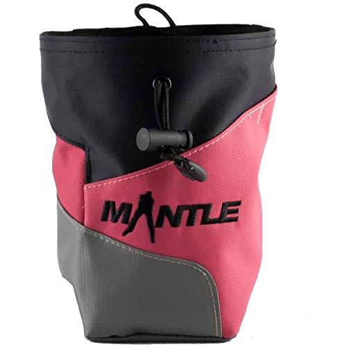 Mantle - Chalkbag Kreidebeutel Crimpy in schwarz/apricot/grau für Kletterkreide...