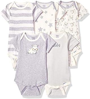 5-Pack Gerber Organic Short Sleeve Onesies Bodysuits