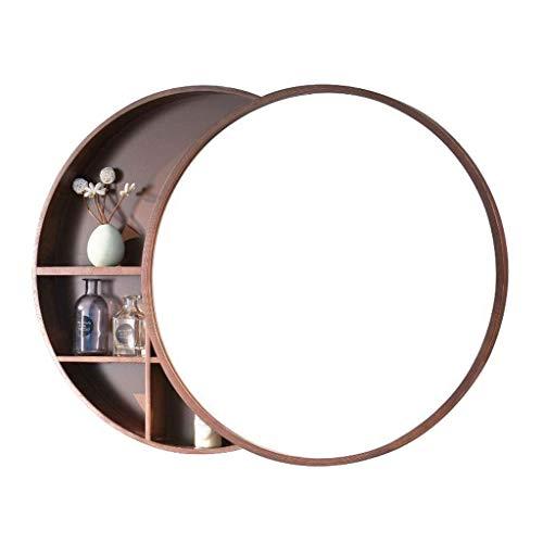 ShiSyan Piel Llevado Espejo de Maquillaje cosmético del Espejo de Doble Cara Continental Escritorio portátil rotación Completa de Aumento 2X HD Espejo de baño Compatible with Uso cosmético de Afeitar