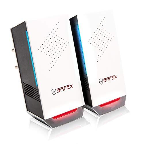 SAFEx Repellente Ultrasuoni per Topi e Insetti ; Antizanzare Ultrasuoni Professionale con 3 Speaker, Efficace Contro Zanzare,Scarafaggi,Ratti,Cimici,Formiche e Ragni. Ad Alte Frequenze.