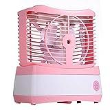 SOOKi Ventilador Nebulización Personal USB, Humidificador Aire Mini Acondicionador Mistola Agua Enfriador Ventilador Refrigerador Aire Verano Ventilador Portátil,Pink