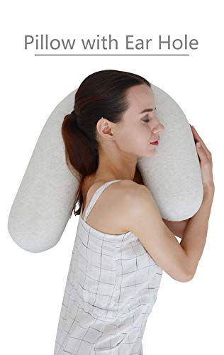 LightEase U Shape Snuggle Contour Side Sleeper Body Pillow w/Ear Hole