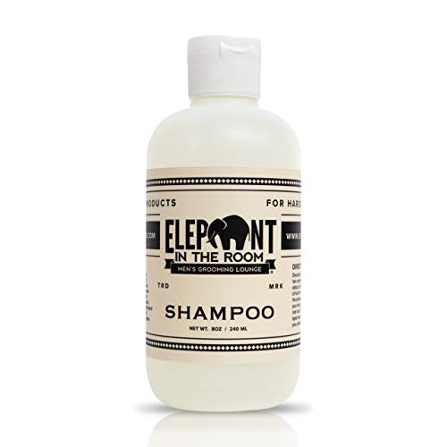Refreshing Shampoo by Elephant In The Room Men's Grooming Lounge - Peppermint Oil and Tea Tree Shampoo - Paraben and Sulfate Free Men's Shampoo for All Hair Types - Invigorating and Cool Anti Dandruff