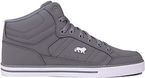 Lonsdale Canons - hohe Herrensportschuhe mit Schnürsenkeln und Logo, mehrfarbig - grau/weiß - Größe: 42.5 EU