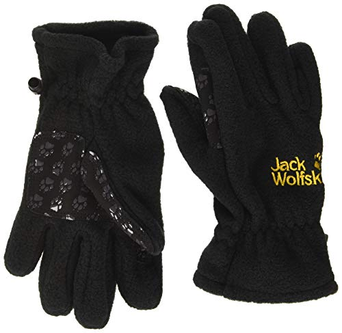 Jack Wolfskin Unisex - Kinder Handschuhe Fleece, black, 128, 1901861-6000128