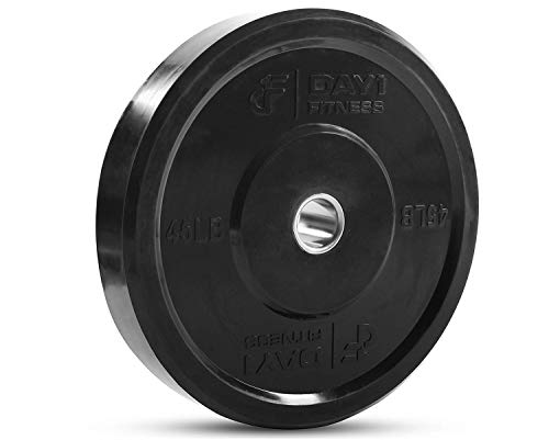 "Day 1 Fitness Olympic Bumper Weighted Plate 2"" For Barbells, Bars – 35 lb Set of 2 Plates -..."