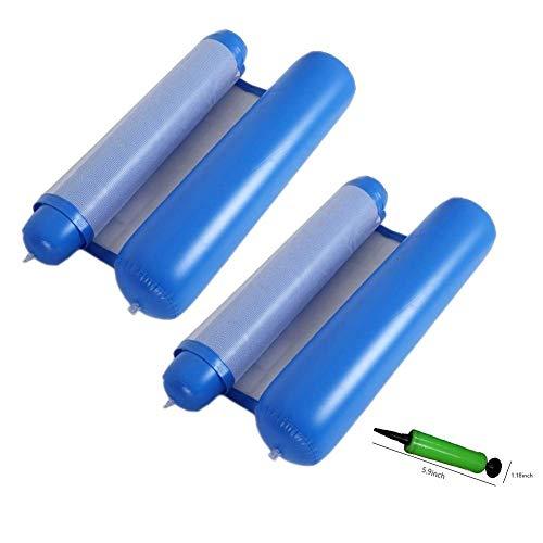 LGR Colchonetas hinchables y colchonetas de Agua Inflable, Flotador de Playa para Piscina, sillón de Cama Flotante para Adultos de 120 cm x 75 cm (Color: Azul a)