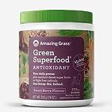 Amazing Grass Green Superfood: natürliche Mix aus Kräutern, Gemüse und Früchten mit Kulteren, Reich an Ballaststoffen, Vitaminen und Mineralstoffen, Vegan, ohne Zuckerzusatz - Beere