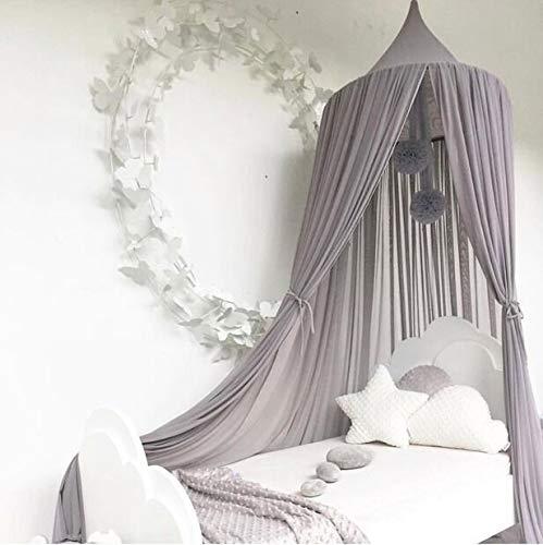 Bed Canopy for Children,Chiffon Mosqutio Net,Baby Indoor Outdoor Play Reading Tent, Bed & Bedroom Decoration (Grey)
