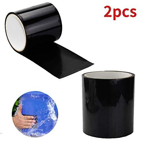 2pcs Cinta Impermeable, PVC Reparación de Fugas Cinta Autoadhesiva 152x10CM, Herramienta de Fijación para Emergencia Pipa Plumbing y Tubo de Agua Fugas, Cables Eléctricos