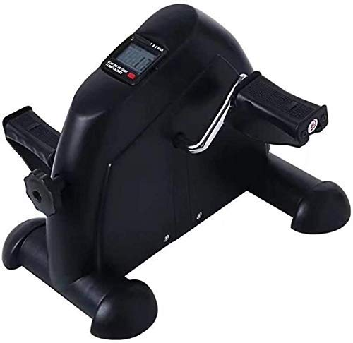 ZHANGKANG Mini Heimtrainer Pedal Trainer beweglichen Fahrrad Arm- und Beintrainer mit LCD-Monitor Durable Bein und Arm Erholung Medical Exercise Equipment, Weiss (Color : Black)