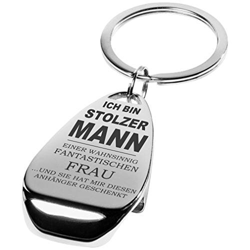 Lieblingsmensch Familien - Schlüsselanhänger Modell: wahnsinnig fantastisch - Mann Einer Frau