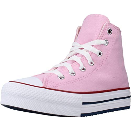 Converse Chuck Taylor All Star Eva Lift Canvas Color Hi Zapatillas Moda Chicas Rosa - 37 - Zapatillas Altas Shoes