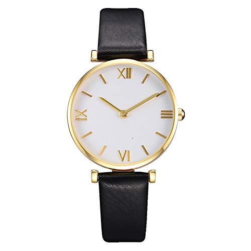 ZX Reloj para Mujer Regalo Casual para Niña Reloj De Cuarzo Analógico con Correa De Cuero Reloj para Mujer Y Niña