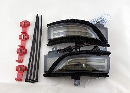 スバル LED 流れる ドアミラー スモークレンズ仕様 シーケンシャル ウインカー フォレスター SJ レヴォーグ VM レガシィ BM BN BS BR インプレッサ GP GJ エクシーガ YA XV WRX S4 WRX STI Eマーク付き
