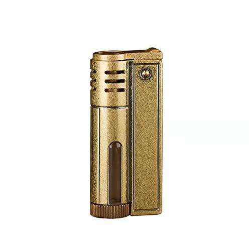 YouthRM Encendedor Vintage, Encendedor de Queroseno,clásico, para Cigarrillos, Cigarros, Tabaco, Regalos de Cumpleaños Únicos para Hombres, Papá, Esposo,Gold
