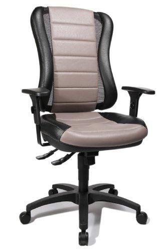 Topstar HE30PS103 Bürostuhl Head Point RS inklusive Armlehnen, zweifarbige Polsterung grau / schwarz