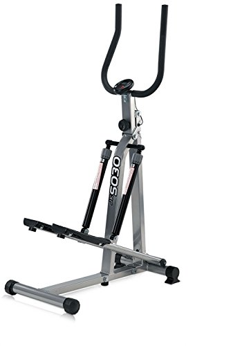 JK Fitness 5030 Stepper Richiudibile, 75 x 41,5 x 131 cm, Argento/Nero