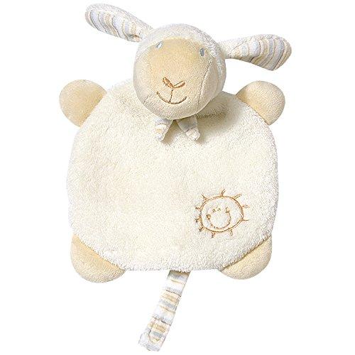 Fehn 154443 Schmusetuch Schaf / Stofftier-Schnuffeltuch mit Befestigungsband für Schnuller zum Kuscheln, Greifen, Fühlen für Babys und Kleinkinder ab 0+ Monaten