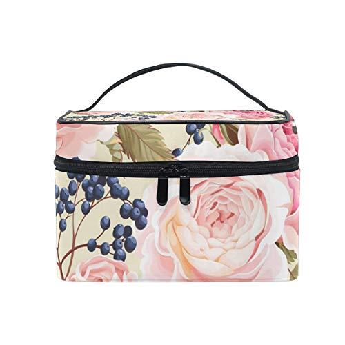 Printemps Floral Butterfly Cosmetic Bag Toiletry Travel Makeup Case Poignée Pouch Multi-Function Organizer pour Women-R6