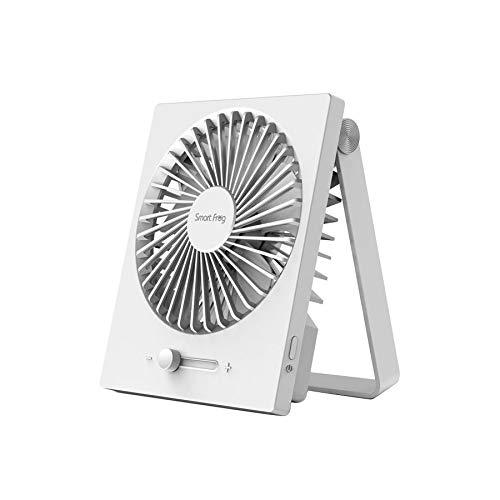 Ventilador de escritorio, portátil, recargable por USB, ajustable, velocidad de viento plegable, mini ventilador para casa, oficina, viajes, camping, coche