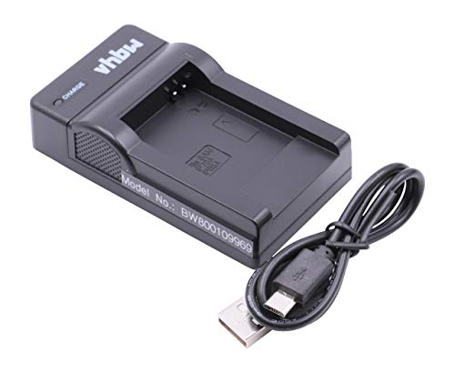 vhbw USB Akkuladegerät kompatibel mit Samsung BP-70a, BP-85a, BP70a, BP85a, EA-BP70A Digitalkamera, Camcorder, Action Cam-Akku - Ladeschale
