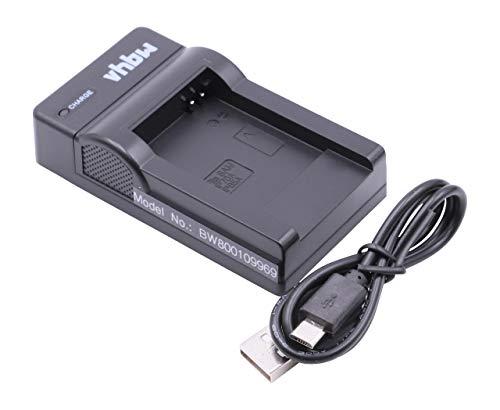vhbw Cargador batería USB Compatible con Samsung PL90, PL100, PL120, PL170, PL171, PL200 baterías cámaras, videocámaras, DSLR -Soporte Carga