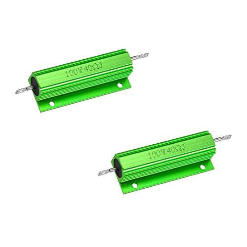 Yohii Wirewound Resistor 100W Watt 40 Ohm Chassis Mounted Aluminum Shell Resistors - 2pcs