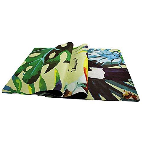 JOMSK Equipo de Entrenamiento Estera de Yoga, Gamuza, 3 mm, respetuosa con el Medio Ambiente, Estera de Fitness, Estera de Yoga para la Familia