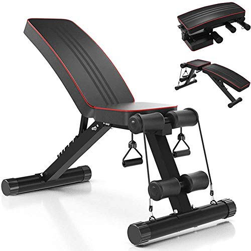 Yoleo Adjustable Incline Folding Bench Multi-Purpose Sit up Bench Portable Exercise Bench Fitness Training, 7 - Positions Utility Bench for Full Body Exercise Workout Bench