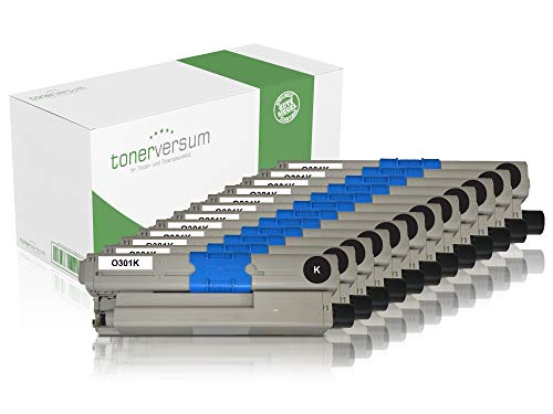 12 toners compatibel met Oki 44973536 zwart voor C301 C301dn C321dn MC332dn MC342 MC342dn MC342dnw laserprinter zwart