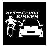 MDGCYDR Autoaufkleber 13X20Cm Respekt Für Biker Reflektierende Warnzeichen Lustige Auto Aufkleber...