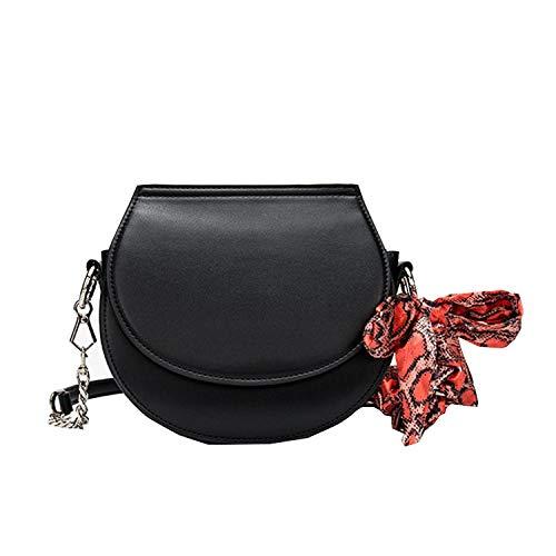 SONGXZ 2020 Neue Handtasche Tasche LäSsige Frauentasche Einfarbiger Schal Sattel Kleine Quadratische Tasche