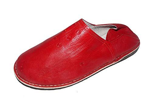 Marrakech Accessoires Orientalische Leder Schuhe Pantoffeln Hausschuh Slipper - Herren/Damen/Unisex - 905586-0015, Schuhgrösse:42