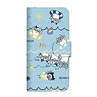 mitas iPhone 12 Pro Max ケース 手帳型 (490) クスグルジャパンvol32 ネコまるけ×海水浴 SC-3932-D/iPhone 12 Pro Max