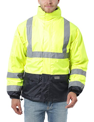 Ultrasport Workwear Sicherheitsjacke mit Warnschutz Ausrüstung,  mit herausnehmbarer Fleece Jacke, 2XL