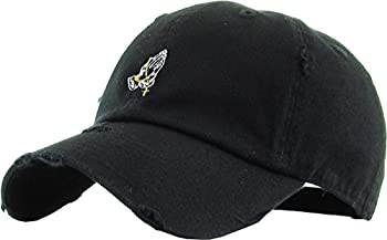 KBSV-061 BLK Praying Hands Vintage Rosary Distressed Dad Hat Baseball Cap Polo Style Adjustable