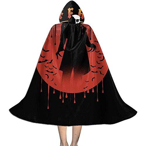 Not Applicable Disfraz De Mago,Capas De Bruja Suaves Y Cmodas De Nosferatu Silhouette para La Reunin De Amigos De La Familia 138cm