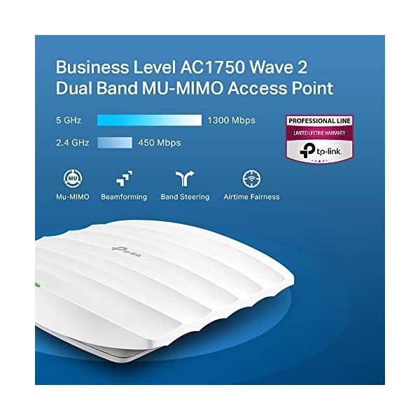TP-Link EAP245 V3   Omada AC1750 Gigabit Wireless Access Point   Business WiFi Solution w/ Mesh Support, Seamless…