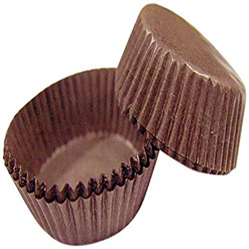 Cybrtrayd CCUPB-601-1000 Candy Cups, 601, Brown