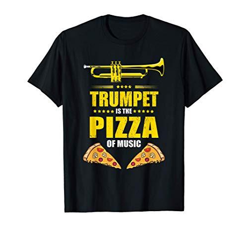 Trumpet is the pizza of music - trompeta Camiseta