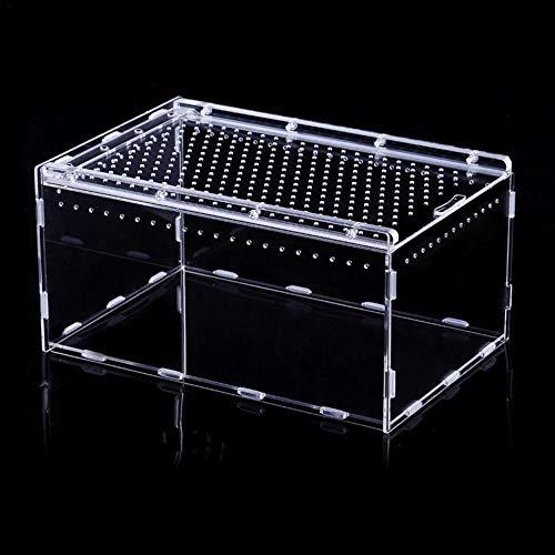 Terrarium,Reptile Glass House,Acryl Reptile Zuchtbox Transparente Panorama Insekten Fütterungsbox Für Snake Spider Lizard Scorpion Centipede