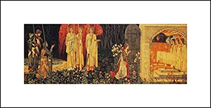 William Morris 20x10 Art Print - The Vision of The Holy Grail Tapestry