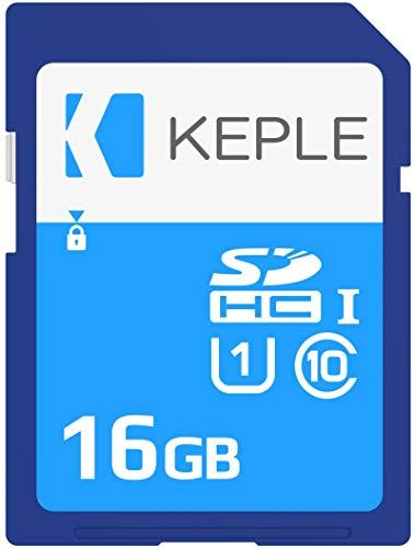 Keple 16GB Scheda di Memoria SD Carte | SD Memory Card Compatibile con Canon IXUS 200, 285, 175, 160, 165, 170, 275HS PS GS, XC10 DSLR Fotocamera | 16 GB Go G UHS-1 U1 Class 10 SDHC Card