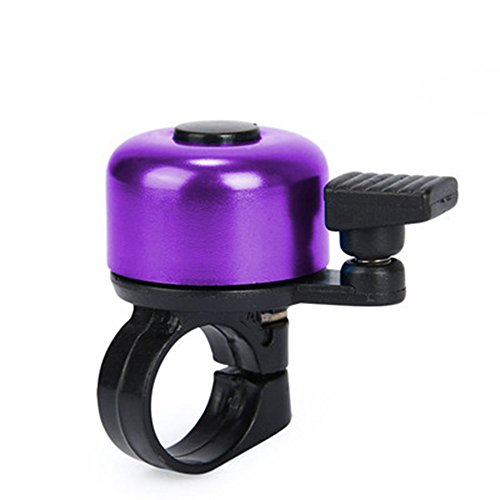 Fine Kids Bike Bell, Cartoon Cycling Bell,Loud Crisp Clear Sound Bicycle Handlebar Ring Horn, Children's Bike Accessories Horn Sound Alarm (Purple)