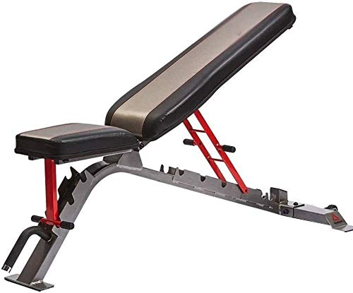 mjj Banco de pesas ajustable estándar banco de pesas banco de pesas banco de pesas para interiores multifuncionales aparatos de levantamiento de pesas