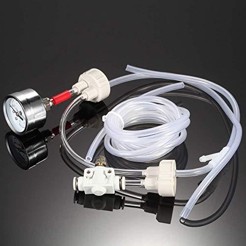 Anself DIY Générateur de CO2 avec Testeur de Pression et Valve de Contrôle du Flux d'air pour Plantes et Aquarium
