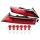Broco 2pcs 24 granos del LED de la matr/ícula LED de luz de l/ámpara for Ford Focus C-MAX MK2