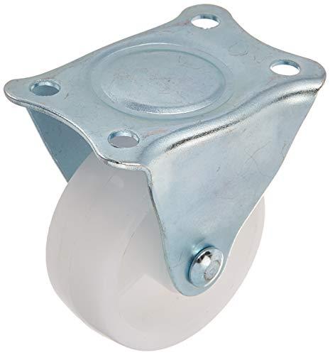 5pcs Roulette 1 Pouces diamètre Roue PP Plaque supérieure métallique Fixe Frein